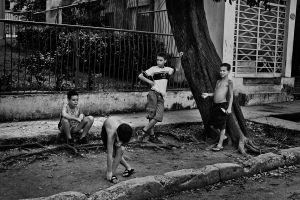 4 boys playing