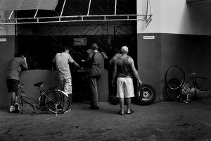 Bicycle tire repair sohp
